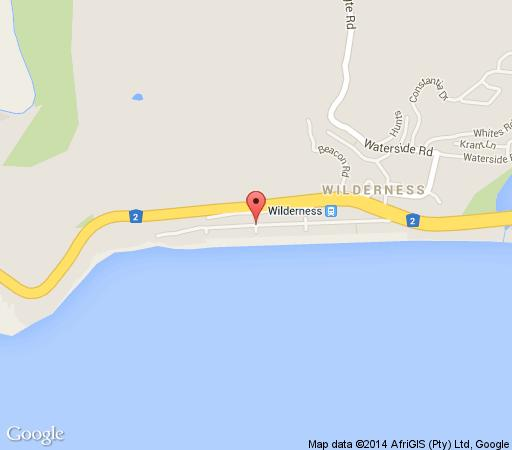 Map Rinkink Beach House in Wilderness  Garden Route  Western Cape  South Africa