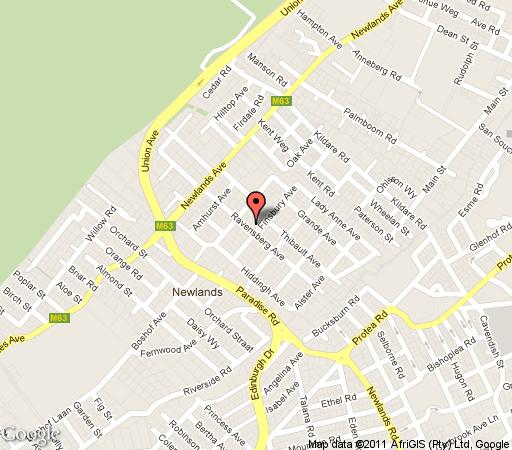 Map Acorns Newlands in Newlands (CPT)  Southern Suburbs (CPT)  Cape Town  Western Cape  South Africa