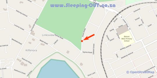 Map Walts Place in Benoni  Ekurhuleni (East Rand)  Gauteng  South Africa