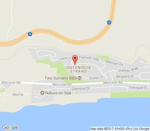 Map Clouds End Boutique Guest House in Glentana  Garden Route  Western Cape  South Africa