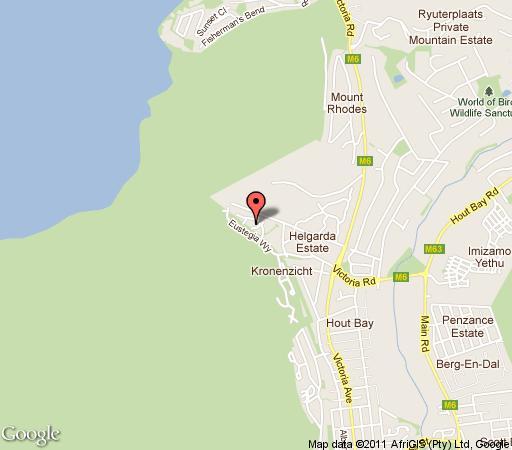 Map Villa Massador in Hout Bay  Atlantic Seaboard  Cape Town  Western Cape  South Africa
