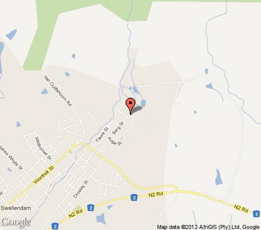 Map Gaikou Lodge in Swellendam  Overberg  Western Cape  South Africa