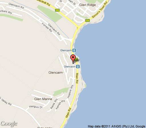 Map Simon\'s Town Lodge in Simon's Town  False Bay  Cape Town  Western Cape  South Africa