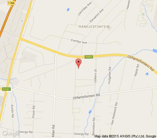Map Charcloe in Halfway House  Midrand  Johannesburg  Gauteng  Südafrika