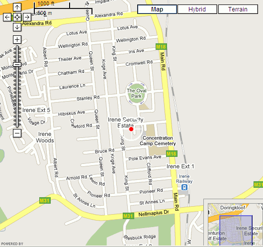 Map Somerslus in Irene  Centurion  Pretoria / Tshwane  Gauteng  South Africa