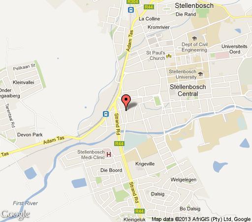 Map Vilaroux in Stellenbosch  Cape Winelands  Western Cape  South Africa