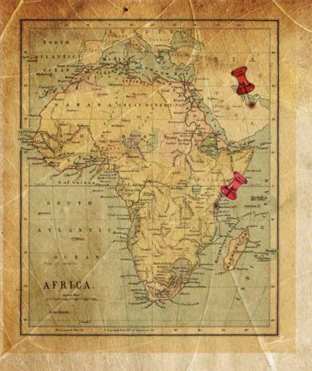 Map Vanilla Arches in Zanzibar  Tanzania
