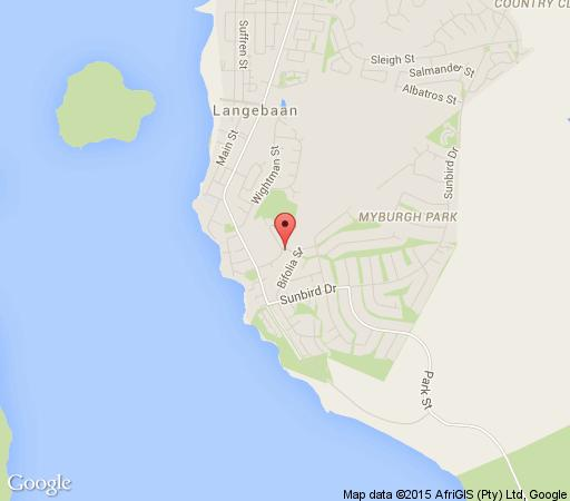Map Windmill Cottage in Langebaan  West Coast (WC)  Western Cape  South Africa