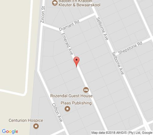 Map Rozendal Guest House in Lyttelton  Centurion  Pretoria / Tshwane  Gauteng  South Africa