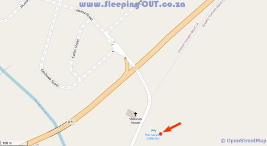 Map Fairview Hotels PTY Ltd in Tzaneen  Valley of the Olifants  Limpopo  South Africa