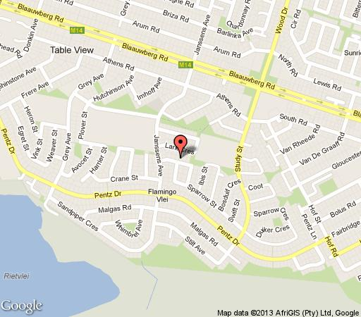 Map Flamingo Rest in Table View  Blaauwberg  Cape Town  Western Cape  South Africa