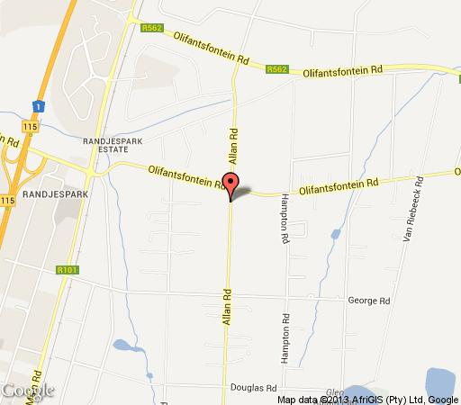 Map Evergreens on Allan in Glen Austin AH  Midrand  Johannesburg  Gauteng  South Africa