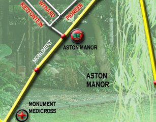 Map Willow Tree Guest House in Kempton Park  Ekurhuleni (East Rand)  Gauteng  South Africa