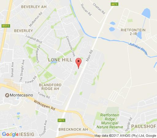 Map Arnheim Lodge in Lonehill  Sandton  Johannesburg  Gauteng  South Africa