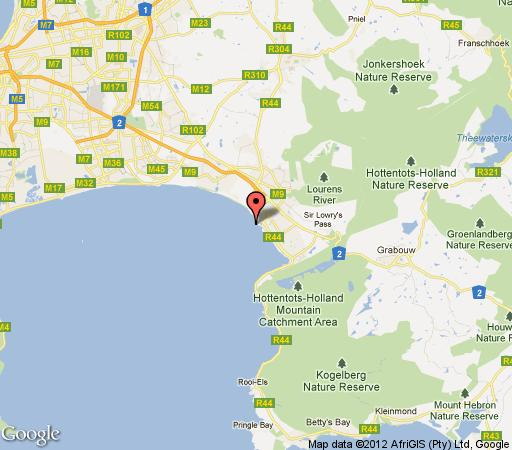 Map Duinesig 35 in Strand  Helderberg  Western Cape  South Africa