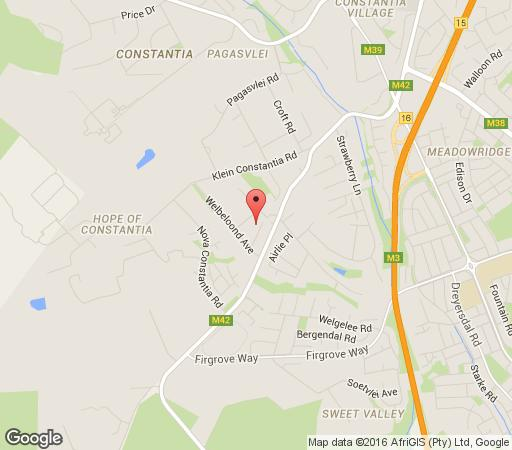 Map Marywood the Cottage in Constantia (CPT)  Southern Suburbs (CPT)  Cape Town  Western Cape  South Africa