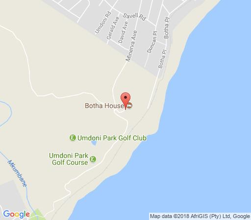 Map Botha House in Pennington  South Coast (KZN)  KwaZulu Natal  South Africa