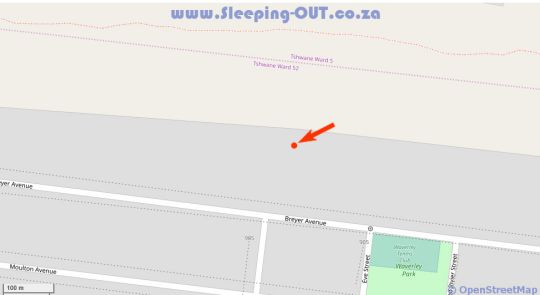 Map Mont Paradiso Guest House in Waverley  Moot  Pretoria / Tshwane  Gauteng  South Africa