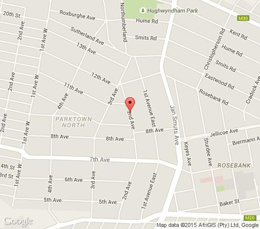 Map Leighwood Lodge in Parktown North  Northcliff/Rosebank  Johannesburg  Gauteng  South Africa