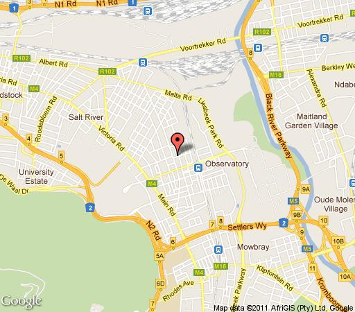 Map Apartments Bedford in Observatory (CPT)  Southern Suburbs (CPT)  Cape Town  Western Cape  South Africa