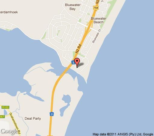 Map LE BLUE GUEST HOUSE in Bluewater Bay  Port Elizabeth  Cacadu (Sarah Baartman)  Eastern Cape  South Africa