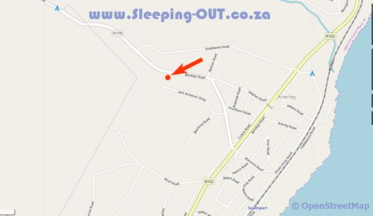 Map Cosy Cabins in Southport  South Coast (KZN)  KwaZulu Natal  Afrique du Sud