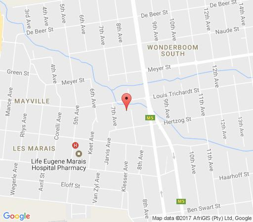 Map Green Valley Lodge in Wonderboom  Pretoria North  Pretoria / Tshwane  Gauteng  South Africa
