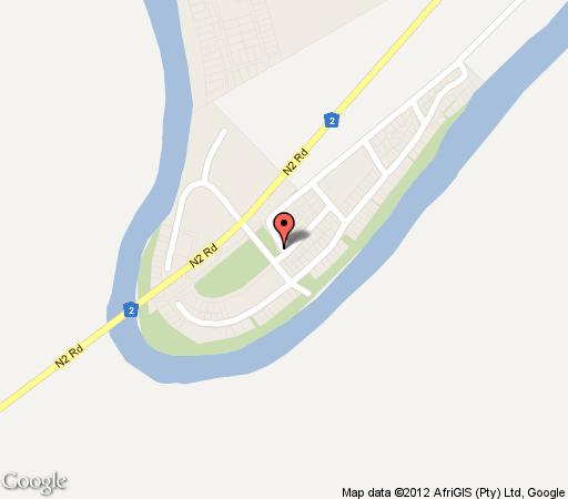 Map River House in Colchester  Cacadu (Sarah Baartman)  Eastern Cape  South Africa