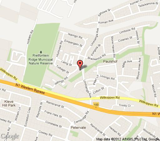 Map Lavender Cottage  in Paulshof  Sandton  Johannesburg  Gauteng  South Africa