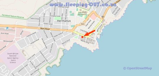 Map Windsor Hotel in Hermanus  Overberg  Western Cape  South Africa