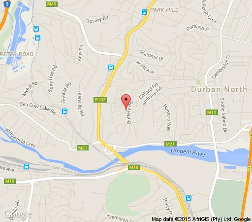 Map Buckleigh Guest House in Durban North  Northern Suburbs (DBN)  Durban and Surrounds  KwaZulu Natal  South Africa