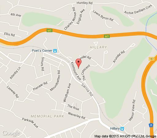 Map Highfield House B & B in Queensburgh  Southern Suburbs (DBN)  Durban and Surrounds  KwaZulu Natal  South Africa