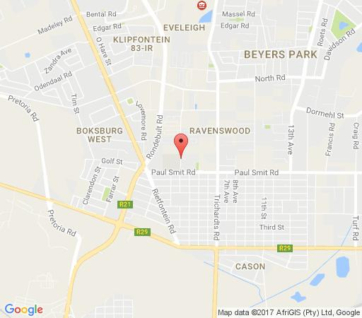 Map Raintree Guest House in Boksburg  Ekurhuleni (East Rand)  Gauteng  South Africa