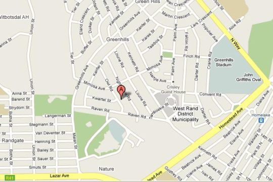 Map Guest Request in Greenhills  Randfontein  West Rand  Gauteng  South Africa
