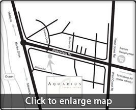 Map Aquarius Luxury Suites in Bloubergstrand  Blaauwberg  Cape Town  Western Cape  South Africa