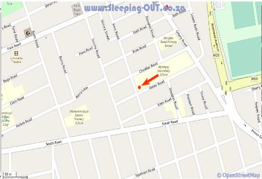 Map Abed Self Catering Flat in Wynberg  Southern Suburbs (CPT)  Cape Town  Western Cape  South Africa