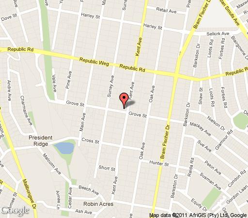 Map 224onKent in Ferndale  Randburg  Johannesburg  Gauteng  South Africa
