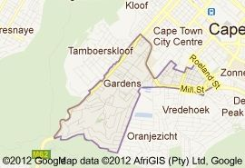 Map 5 Camp Street in Gardens  City Bowl  Kaapstad  Western Cape  Suid-Afrika