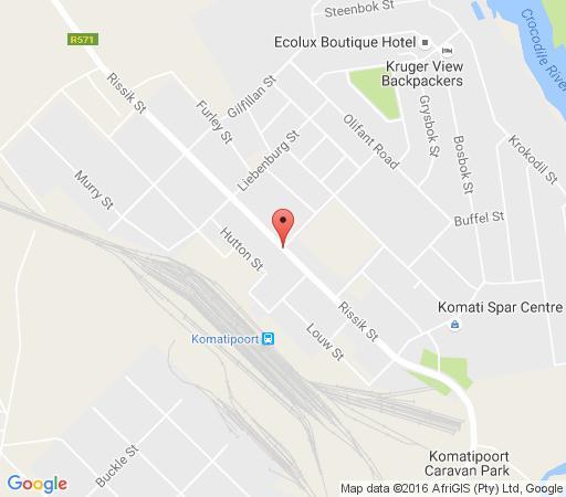 Map Tambarina Restaurant & Guesthouse in Komatipoort  Lowveld  Mpumalanga  Afrique du Sud