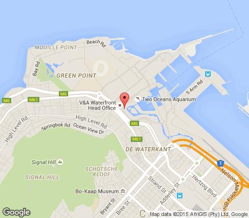 Map Lawhill Apartments in Waterfront  City Bowl  Kaapstad  Western Cape  Suid-Afrika