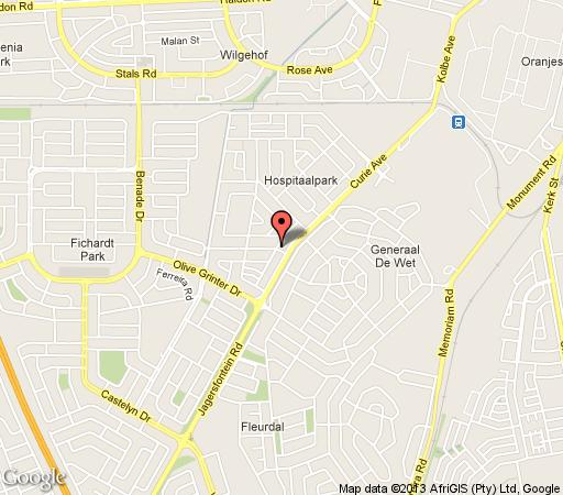 Map TwoBells Guesthouse in Bloemfontein  Mangaung  Free State  South Africa