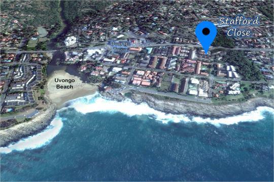 Map 12 Stafford Close in Uvongo  South Coast (KZN)  KwaZulu Natal  South Africa