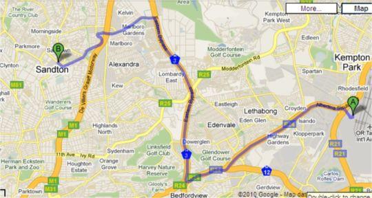 Map Michelangelo Towers  in Sandton Central  Sandton  Johannesburg  Gauteng  South Africa