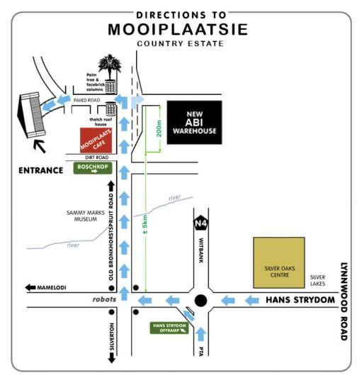 Map Mooiplaatsie Country Estate in Mooi Plaats  Pretoria East  Pretoria / Tshwane  Gauteng  South Africa