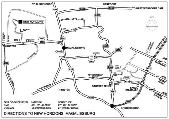 Map Farm New Horizons in Magaliesburg  West Rand  Gauteng  South Africa