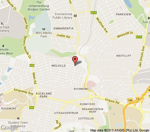 Map Nomndeni de la Changuion in Melville (JHB)  Northcliff/Rosebank  Johannesburg  Gauteng  South Africa