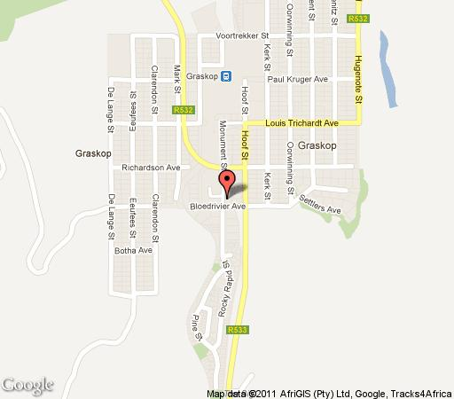 Map Daan\'s Place in Graskop  The Panorama  Mpumalanga  South Africa