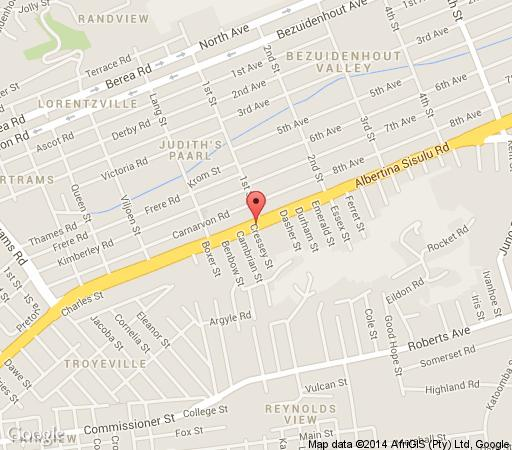 Map Eastgate Palms Lodge in Kensington (JHB)  Johannesburg East  Johannesburg  Gauteng  South Africa