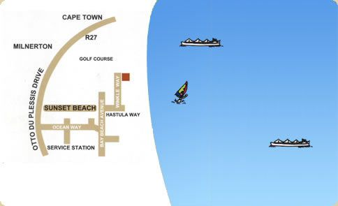 Map Cape Sunset Villas in Sunset Beach  Blaauwberg  Cape Town  Western Cape  South Africa