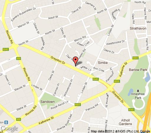 Map Strathavon Hotel in Strathavon  Sandton  Johannesburg  Gauteng  South Africa